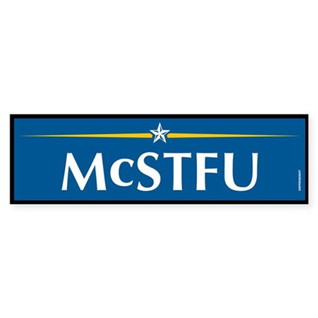McSTFU Anti McCain Bumper Sticker