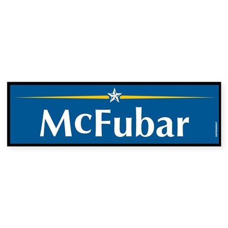 McFubar Anti McCain Bumper Sticker