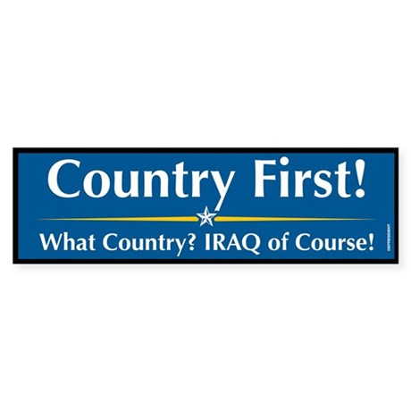 Country First Anti McCain Bumper Sticker