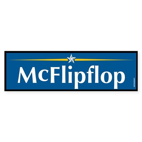 McFlipflop Anti McCain Bumper Sticker