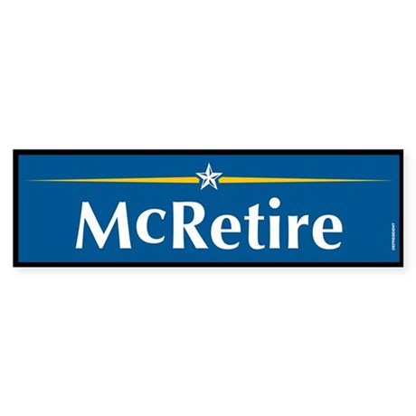 McRetire Anti John McCain Bumper Sticker
