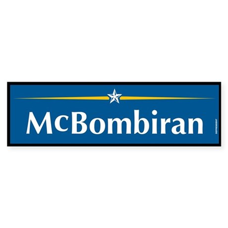 Mcbombiran Anti McCain Bumper Sticker