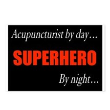 Superhero Acupuncturist Gift Postcards (Package of