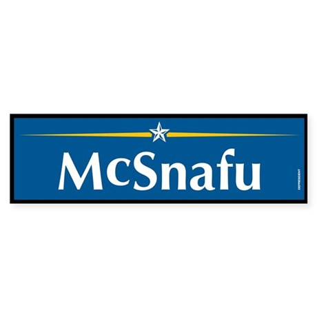 McSnafu Anti McCain Bumper Sticker