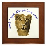I Will Always Love You (alt) Framed Tile