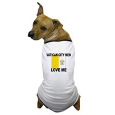Vatican City Men Love Me Dog T-Shirt