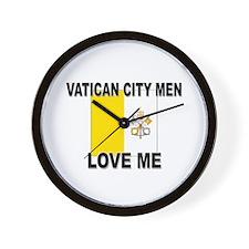 Vatican City Men Love Me Wall Clock