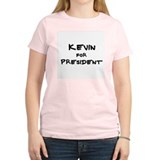 Kevin for President Women's Pink T-Shirt