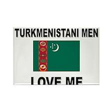 Turkmenistani Men Love Me Rectangle Magnet