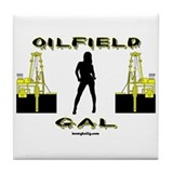 Oilfield Gal Tile Coaster