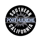 "Port Hueneme California 3.5"" Button"