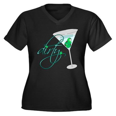 dirty martini Women's Plus Size V-Neck Dark T-Shir