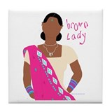 Brown Lady Indian Tile Coaster