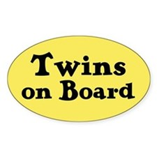 Twins on Board - Oval Decal
