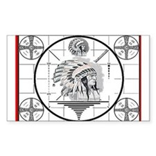 TV Test Pattern Indian Chief Rectangle Decal