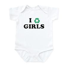 I Recycle Girls Infant Bodysuit