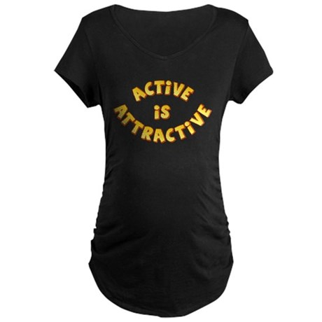Active Is Attractive Maternity Dark T-Shirt