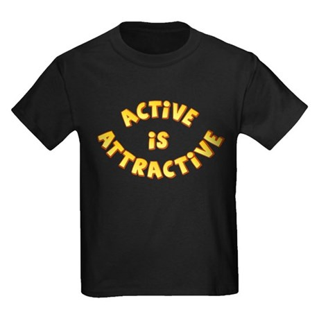 Active Is Attractive Kids Dark T-Shirt