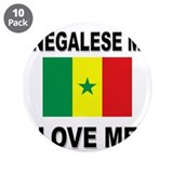 "Senegalese Men Love Me 3.5"" Button (10 pack)"