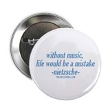"Life Without Music 2.25"" Button"