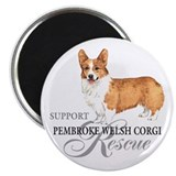 Pembroke Welsh Corgi Rescue Magnet