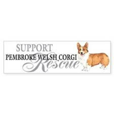 Pembroke Welsh Corgi Rescue Bumper Bumper Sticker