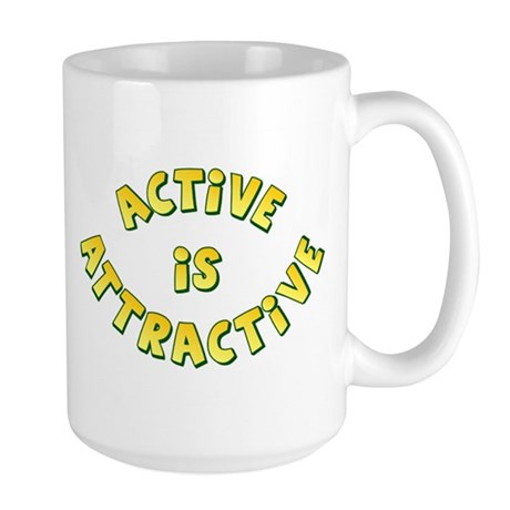 Active Is Attractive Large Mug