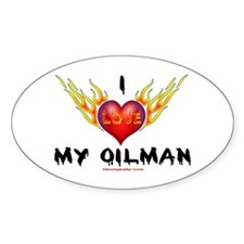 I Love My Oilman Oval Decal