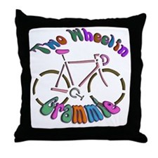 Biker Grammie Throw Pillow