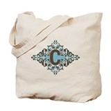 C Monogram Letter C Tote Bag