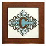 C Monogram Letter C Framed Tile