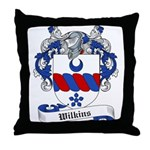 Wilkins Family Crest Throw Pillow