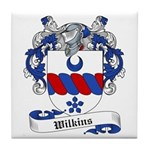 Wilkins Family Crest Tile Coaster