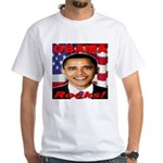 Obama Rocks White T-Shirt