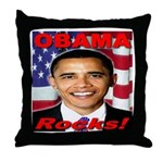 Obama Rocks Throw Pillow