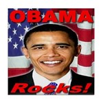 Obama Rocks Tile Coaster