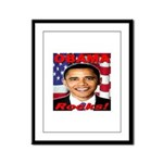 Obama Rocks Framed Panel Print
