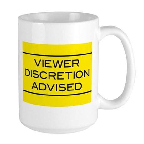 Viewer Discretion Advised Large Mug