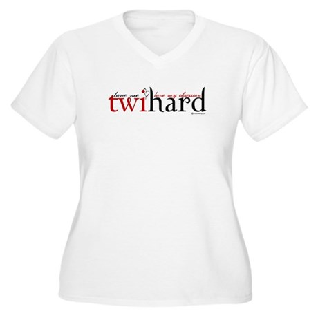Twihard Women's Plus Size V-Neck T-Shirt