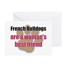 French Bulldogs woman's best friend Greeting Cards