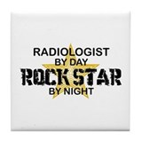 Radiologist Rock Star by Night Tile Coaster