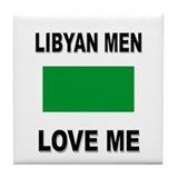 Libyan Men Love Me Tile Coaster