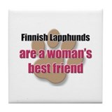 Finnish Lapphunds woman's best friend Tile Coaster