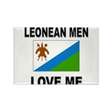 Leonean Men Love Me Rectangle Magnet