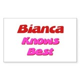 Bianca Knows Best Rectangle Decal