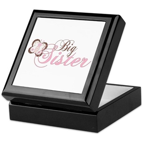 Pink Butterfly Big Sister Keepsake Box