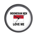 Indonesian Men Love Me Wall Clock