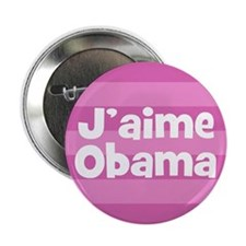 J'aime Obama I love Obama French election button