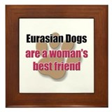 Eurasian Dogs woman's best friend Framed Tile