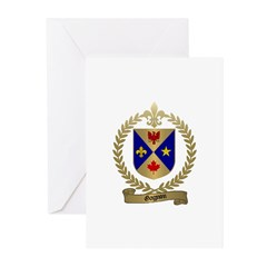 GAGNON Family Crest Greeting Cards (Pk of 10)